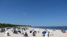 am Strand vom Ostseebad Ahlbeck